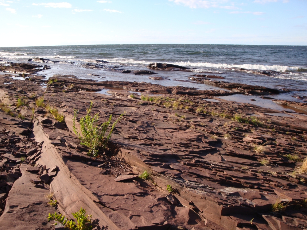 A photo of the Sandstone Bedrock Lakeshore natural community type